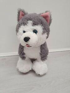 Genuine Build A Bear Workshop BAB Promise Pets Husky Dog Grey White Soft Plush