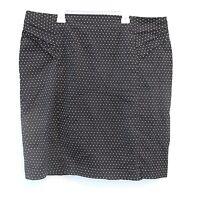 New York Company Skirt Black White Polka Dot Print Stretch Career Casual Size 18
