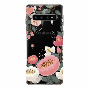 Samsung Galaxy S10 Coque fantaisie gel souple et solide ( Fleurs )