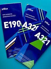 JETBLUE AIRWAYS SAFETY CARDS SET