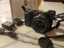 Sony Alpha α6000 24.3MP Digital SLR Camera - Black (Kit with E PZ 16-50mm f/3.5-