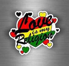 Sticker car decal rasta reggae JAH lion of judah one love rastafarai r21