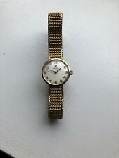 Stunning Vintage 1960s 9ct Solid Gold Omega Ladies Watch + Box & Papers - 9k