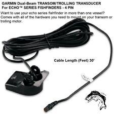 Garmin Dual-Beam Transom/Trolling Transducer For echo™ Series Fishfinders-4 Pin