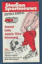 Orig.PRG  Int.Turnier 1982   ROTTERDAM /ARSENAL FC/ CELTIC GLASGOW /AUSTRIA WIEN