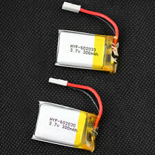 2X 602030 3.7V 300mAh LiPo Rechargeable Battery for MP3 MP4 Model Toys High Rate
