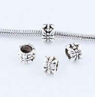Tibetan Silver Hollow Spacer Beads Charm Jewelry DIY Accessories Finding 6x8mm