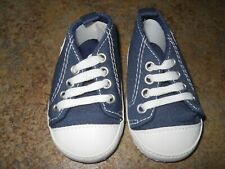 Little Boy's Blue Tennis Shoes - Size 3-6 Months - Brand New