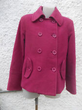 VINTAGE MISS SHOP CRANBERRY PINK WOOL VISCOSE MIX FULLY LINED JACKET-SZ L 14 VGC