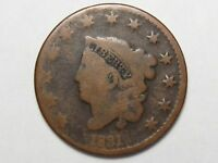 1831 US Coronet Head Large Cent.  #25