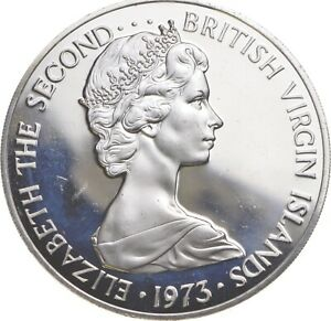 Better - 1973 British Virgin Islands 1 Dollar - TC *454