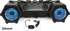 "Boss ATV30BRGB 6.5"" 450W RMS ATV/Marine ATV Amplified Speaker System w/Aux+LED"