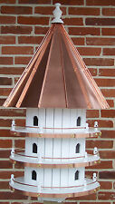 12 Hole Bird House with High Copper Roof Amish Made in Usa