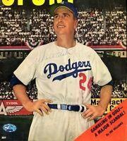 Walt Alston Signed Psa/dna Certed 8x10 Cover Photo Authentic Autograph