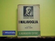 ART 7.003 LIBRO I MALAVOGLIA DI GIOVANNI VERGA A CURA DI PIERO NARDI 1942