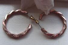 Solid Copper and Nickel Hoop Earrings CE907L03- 1 1/4 inch in diameter.