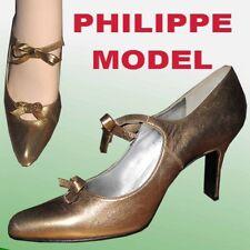 PHILIPPE MODEL Paris $375 KiIller Runway Pumps GOLD 10