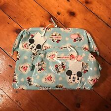 Cath Kidston Disney Mickey Hearts Minnie Mouse Cosmetic And Wash Bag Bundle