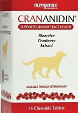 Crananidin Bioactive Cranberry Extract Urinary Track Health Dog 75 Chewable Tabs