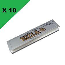 Rizla + Silver Slim lot de 10 carnets feuilles à rouler longue