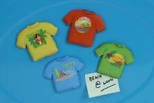 Tee Shirt Surfer Theme Tin Magnets Set of 4 - 41993