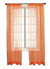 Diplomat Decor Kors 108-Inch Rod Pocket Panel, Orange