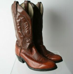 Womens Abilene Size 8 Vintage Brown Leather Cowboy Boots