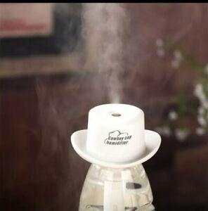 Diffuseur d'huiles essentielles humidificateur USB - Chapeau blanc