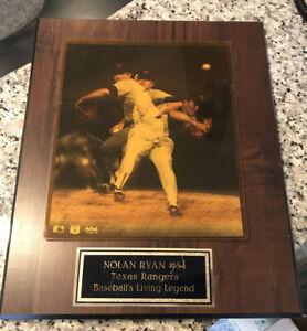 NOLAN RYAN TEXAS RANGERS BASEBALL'S LIVING LEGEND OFFICIAL MBL WOOD PLAQUE 15x12