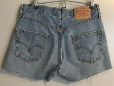 VTG Levi's 501 Distressed High Waist Denim Cut Off Jean Shorts Size Med