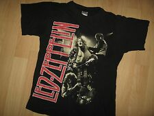 Led Zeppelin Vintage Tee - Retro Rock & Roll Thin Grunge Band Album T Shirt S/M