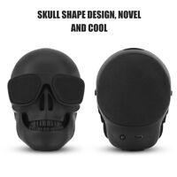 Portable Skull Head Wireless Bluetooth Speaker Mini Bass Stereo Speaker HD Sound