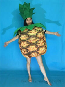2018 New Fruits Festival Pineapple Mascot Costume Suits Party Game Dress Adults