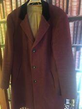 """Ballantyne Bourgogne/Noir Covert coat. 40"""" Tour De Poitrine"""