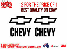 2 x CHEVYS & 2 X LOGOS Stickers for your Car, Boat, LAPTOP... IN BLACK COLOUR