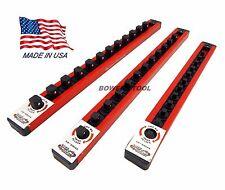 Mechanics Time Saver 1/4 3/8 1/2 in Drive Lock A Socket Rail Rack MTS USA Made
