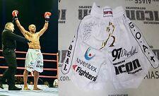 Raymond Daniels Signed Bellator Kickboxing Fight Worn Used Trunks Shorts BAS COA