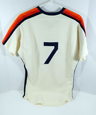 1983-88 Houston Astros #7 Game Used Cream Jersey DP04039