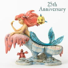 Disney Traditions Jim Shore Litltle Mermaid 25th ARIEL with Flounder Figurine