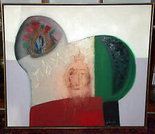 "KOVARSKY YEHOSHUA JUDICIAL  LARGE RABBI OIL ON CANVAS DATED ""65"" SUBJECT:TRUTH"