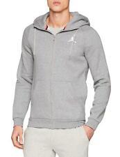 Jordan Carbon Heather/White Jumpman Air Men's Fleece Full-Zip Hoodie
