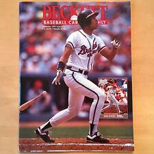Beckett Baseball Card Monthly #78 September 1991 Justice Braves Erickson Twins