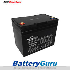 NeutonPower AGM deep cycle battery 12V 40Ah (for Golf Buggy, Scooter)