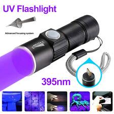 USB UV Licht 395nm Schwarzlicht Wiederaufladbare LED Taktische Taschenlampe AKKU