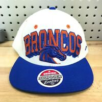 Boise State NCAA Football Sports Zephyr Snapback White BRONCOS hat College Team