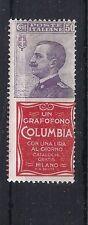 ITALIA REGNO: PUBBLICITARIO COLUMBIA 50 CENT, NUOVO* LINGUELLATO BELLO