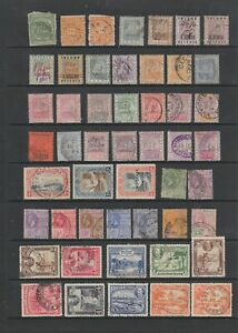 British Guiana QV - KGVI used collection, 50 stamps