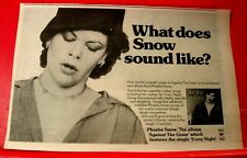 "Phoebe Snow Against The Grain Vintage ORIG 1978 Press/Magazine ADVERT 13""x 8"""