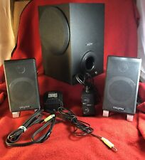 creative inspire t3000 powered computer speaker system tested working great