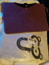 """UCCHARMING MacBook Air 13-13.3"""" Leather Laptop Sleeve Case Pouch Bag Purple"""